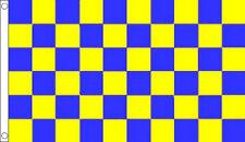ROYAL BLUE and YELLOW CHECK FLAG 5' x 3' Checkered
