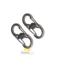 Nite Ize NI-LSBM11-2R3 S-Biner Edelstahl Schlüsselanhänger MICROLOCK silber