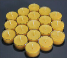18 BEAUTIFUL 100% BEESWAX TEALIGHT CANDLE NO ADDITIVES
