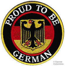 PROUD TO BE GERMAN embroidered iron-on PATCH Aufnäher Deutschland FLAG GERMANY