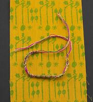 Bracelet Thaï sacré Sai Sin Béni coton Takrut + Pha Yant Chance Protection 1643