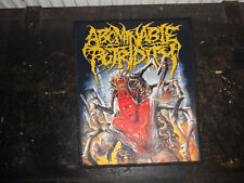 Abominable Putridity Patch Death Metal Devourment Back Patch Backpatch