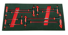 Britool Hallmark HPKSET8 8 Piece Hex Power Key Wrench Set in Tool Control Foam