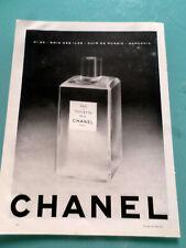 publicités ancienne  PARFUM EAU DE TOILETTE N°5 DE CHANEL  (B4)