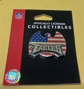PHILADELPHIA EAGLES USA FLAG EAGLE W/ TEAM LOGO NFL TEAM VINTAGE COLLECTOR PIN