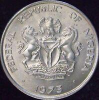 1973 MS Nigeria 10 Kobo - KM# 10.1 - CC