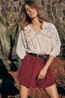 New WITCHERY Limited Edition White Cutout Embroidered Silk Blouse Top 10 $299.95