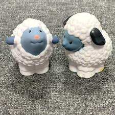 2x Fisher Price Little People farm barn Animal white Sheep Preschool toys #K1