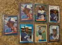 (7) Fred Mcgriff 1986 1987 Donruss Fleer Topps Leaf Rookie card lot RC Blue Jays