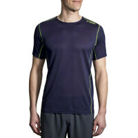Brooks Mens Ghost Running T Shirt Tee Top Blue Sports Breathable Lightweight