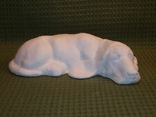 Basset Hound Lying Down - Ceramic Bisque Ready to Paint