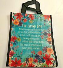 "Natural Life recycled plastic bag.9.25""H x8""W Medium Gift  Bag  GIVING BAG"
