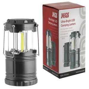 Jegs 3 Cob Led Collapsible Camping Lantern 300 Lumens Fishing Work Lamp Light