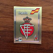 Panini Euro 88 1988 España Badge Number 131 With Original Back