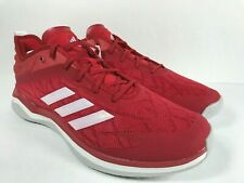 Mens Adidas Speed Trainer 4 Red Sport Running Athletic Shoe CG5136 Size 12.5