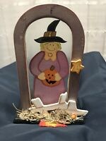halloween witch Glass decoration Preowned Missing Ornament
