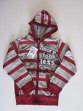 NWT Desigual boy's hoodie zip up sweatshirt striped graffiti size 7-8 7 8 New