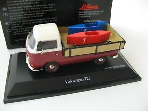 VW T2a platform truck with soapbox white/red/blue 1/43 SCHUCO Rare!