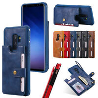 Leather Flip Wallet Case For Samsung Note9 8 S8 S9 Plus Magnetic Card Slot Cover