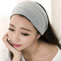 Bandeau pour Femme Bande de Cheveux Élastique Bandeau de Cheveux Turban Coton