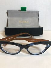 Authentic Anne et Valentin Glasses Octet 1312 Blue Brown Eyeglasses With Case RX
