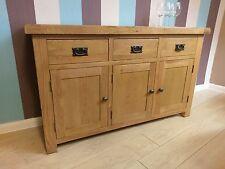 Kingsford Solid Oak Large Wide 3 Door Sideboard / Cupboard 139cm 43cm 83cm