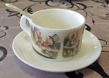 Belle alice au pays des merveilles tasse soucoupe cuillère set thé café cadeau