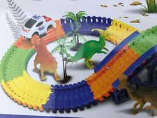 Dinosaur World 133 Pieces Model Tracks car 5x Dinosaurs Puzzle Educational Fun