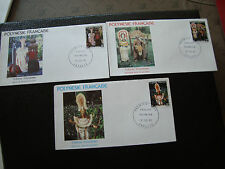 POLYNESIE - 3 enveloppes 1er jour 12/7/1982 (cy64) polynesia (A)