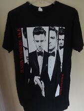 Euc 2013/14 Justin Timberlake World Tour Band T-Shirt Men Large 2 Sided Shirt