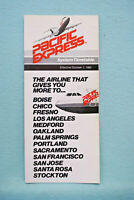 Pacific Express System Timetable - Oct 1, 1982
