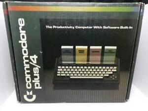 Vintage Commodore Plus 4 Computer in Original Box