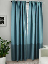 Ikea MARJUN 2 Gardinenschals je 145x250 blau Verdunkelung