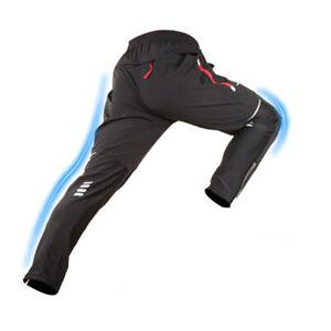 MTB Winter Cycling Sportswear Reflective Strip Mens Thermal Yarn Trousers Pants