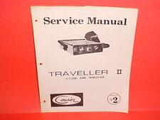 1974 COURIER TRAVELLER II CB RADIO FACTORY ORIGINAL SERVICE SHOP MANUAL