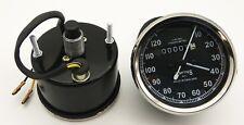 Vintage Replica Smith Speedometer 0-120 Mph BSA Royal Enfield Norton Chrome Rim