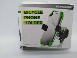 Mongoora Bike & Motorcycle Phone Mount w/ 3 Bands (Black, Red, Green) Cell Phone