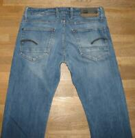 ">>> G- STAR RAW "" REVEND STRAIGHT "" Herren- JEANS in blau W32"" /L32"""