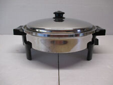 12� Saladmaster 7256 Oil Core Stainless Steel Electric Skillet Fry Pan Steamer