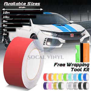 Matte Color Racing Stripes Vinyl Wrap Sticker For Honda Civic Stripe 25FT / 50FT