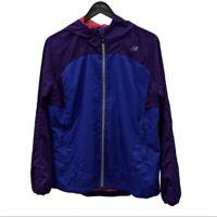 NEW BALANCE Purple & Blue Hooded Windbreaker Size Large
