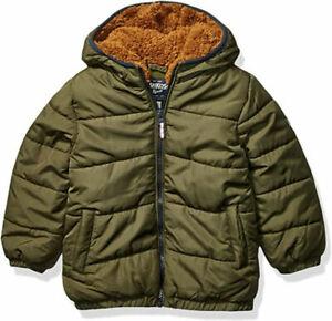Osh Kosh B'gosh Boys Olive Green Coat Size 2T 3T 4T 4 5/6 7