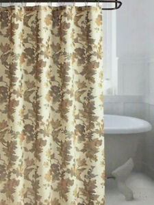 Bee & Willow Fabric Shower Curtain - Autumn Floral Brown Birch