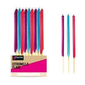 Citronella Candle Flares (24 Pack) - fragranced, fresh, citrus, extra large, can