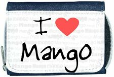 I Love Heart Mango Denim Wallet
