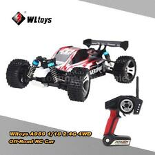 Original Wltoys A959 1/18 RC Car 2.4G 4WD RTR Off-Road Buggy Truck Red S6X6