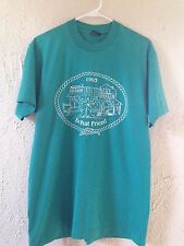 "90's ""Be That Friend"" T-Shirt - Sz: L - Teal / Blue - Cowboy Hat - Boots"