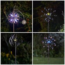 Metal Wind Spinner Solar Light Garden LED Windmill Spinning Decoration Ornament