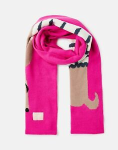 Joules Girls 207158 Character Jaquard Scarf - Cream Sausage Dog - One Size