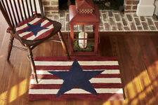 PARK DESIGN AMERICAN STAR HOOKED AREA RUG 24 BY 36 NEW